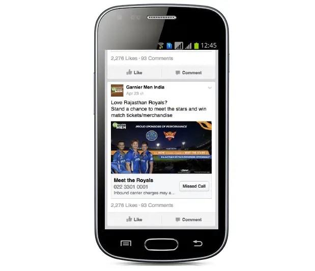 facebook missed call