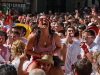 Image result for Jubilant crowds welcome San Fermin fiestas