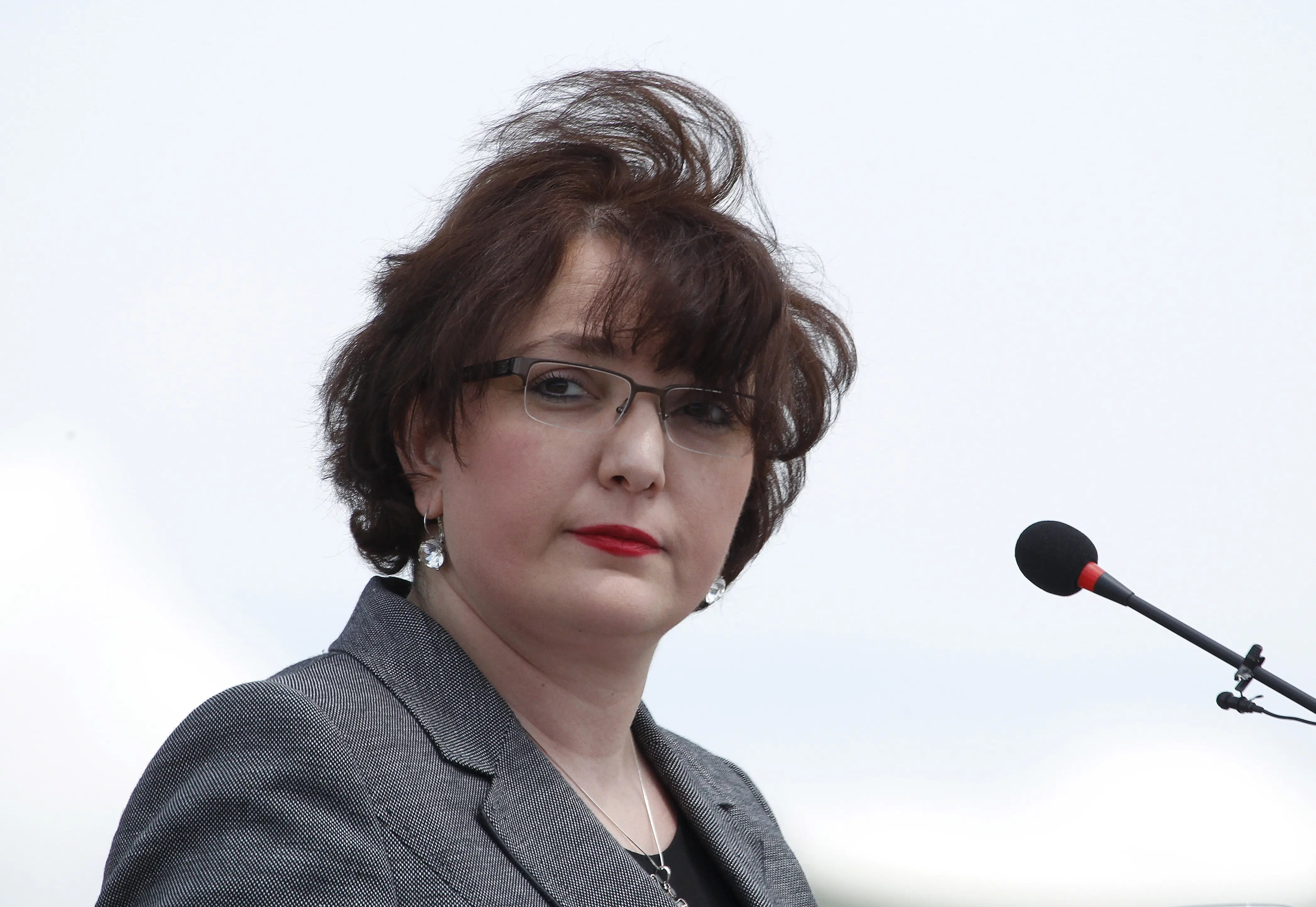 Georgia's Defence Minister Tina Khidasheli attends an official opening ceremony of the joint U.S.-Georgian exercise Noble Partner 2015 at the Vaziani training area outside Tbilisi, Georgia, May 11, 2015