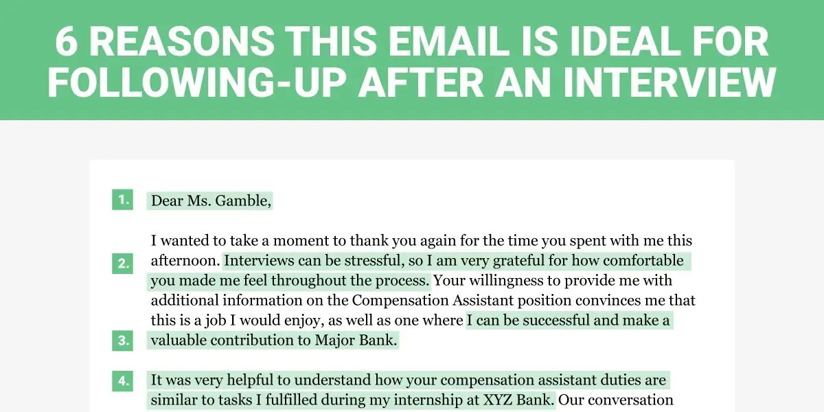 the perfect interview follow up letter business insider