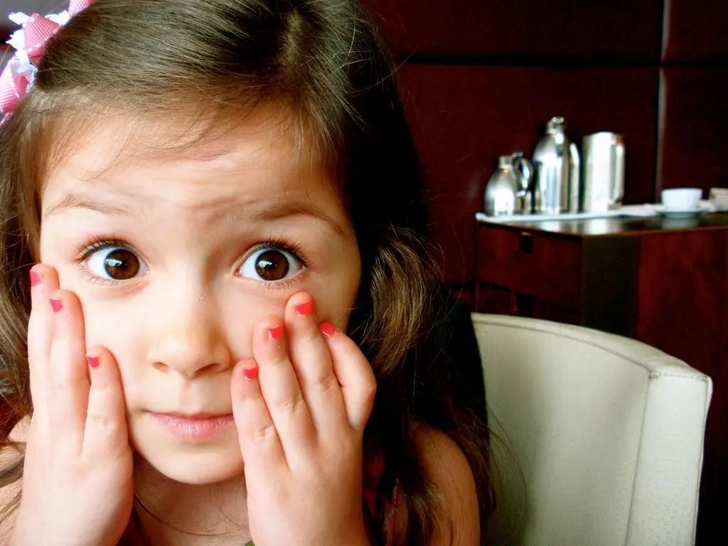 surprised kid girl