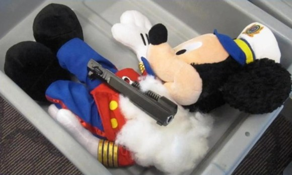 US Transportation Security Administration agents at T.F. Green Airport in Warwick, Rhode Island, found a gun hidden inside a Mickey Mouse plush doll.