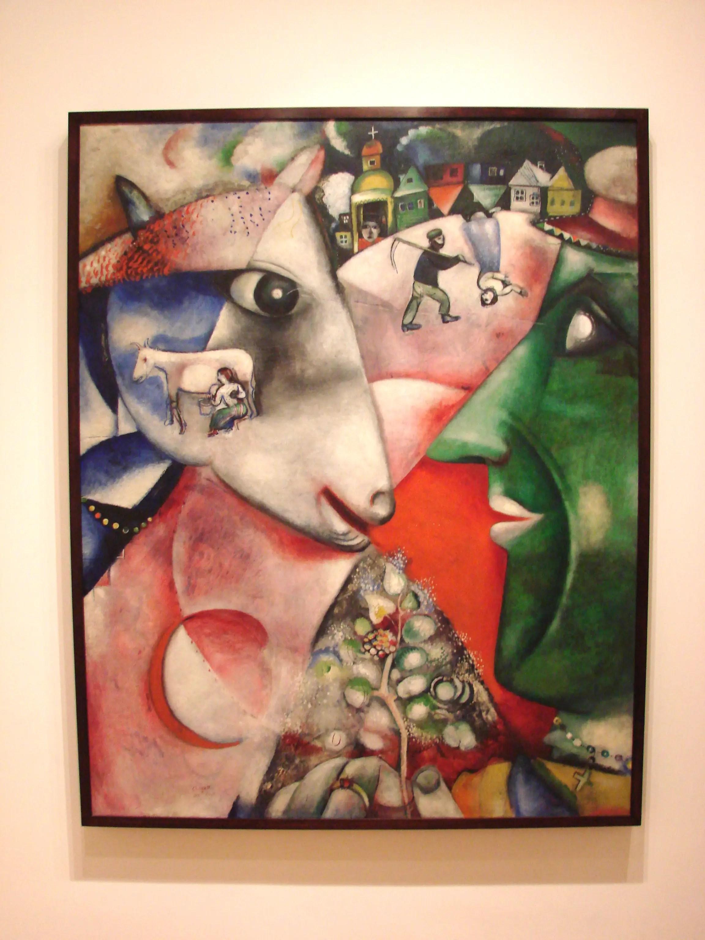 «I and the Village» de Marc Chagall au Museum of Modern Art de New York.