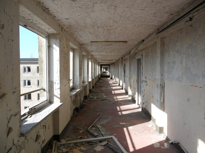 It became a shell of building, a failed Nazi dream left to decay for the next several decades ...