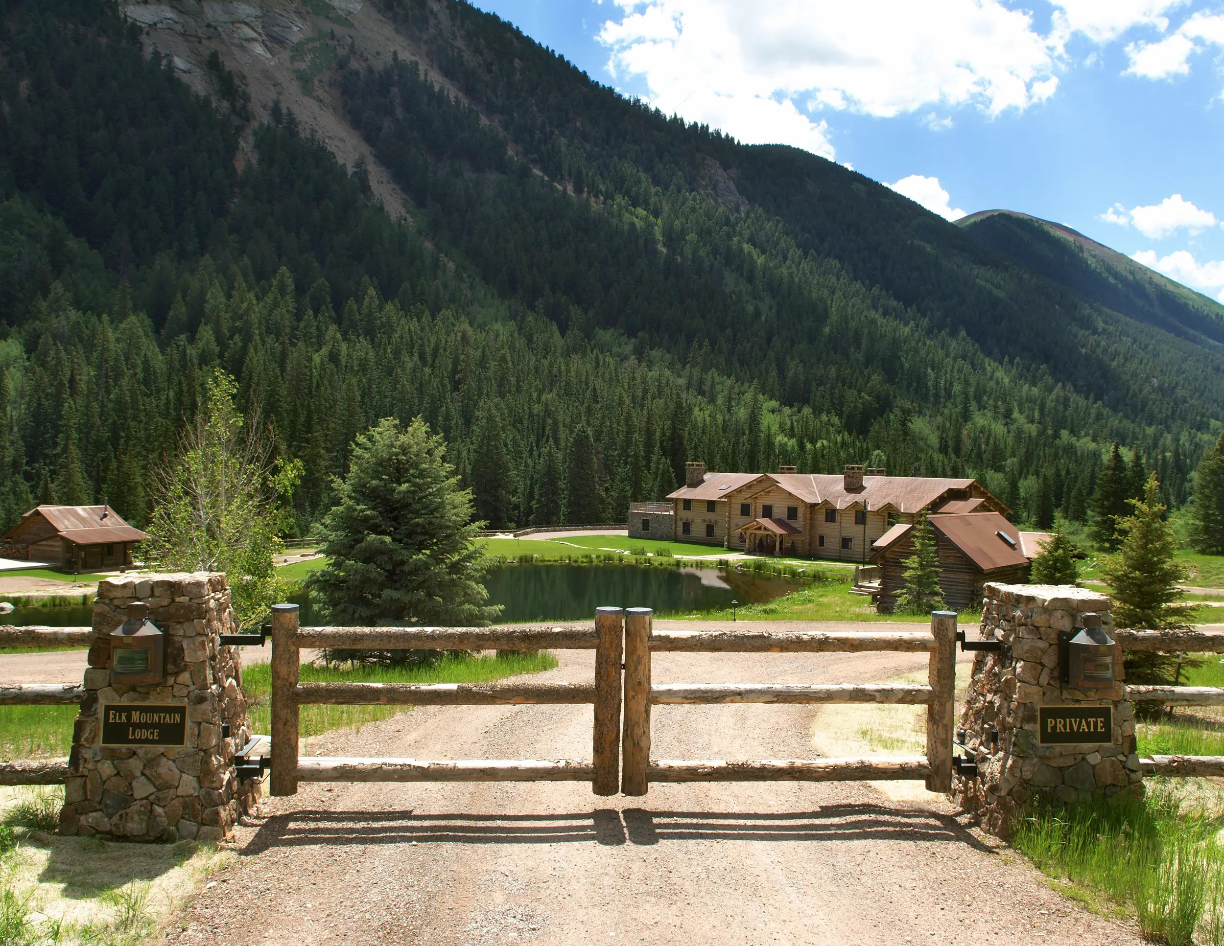 The property is gated and private.