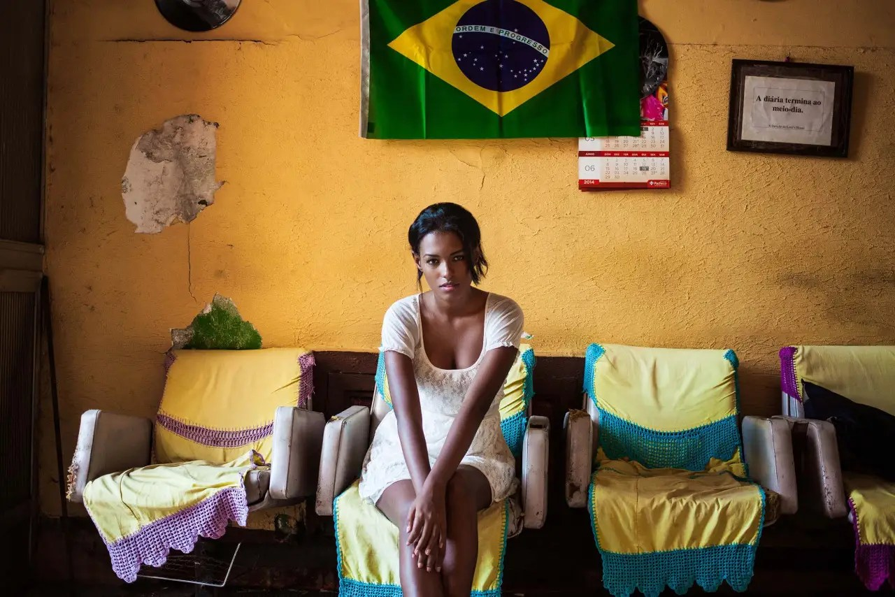Noroc hopes to publish an Atlas of Beauty book after another year of traveling. This woman was photographed in Rio de Janeiro.