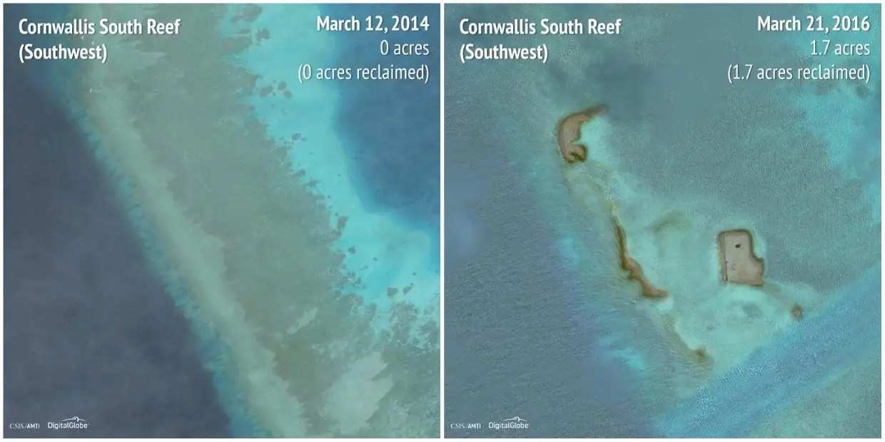 Cornwallis South Reef (Southwest): 2014 - 2016