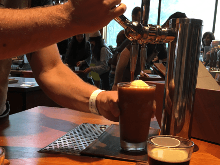 Another ice-cream-coffee pairing is one of the most expensive on the menu: the Nitro Cold Brew Float, which is $10.