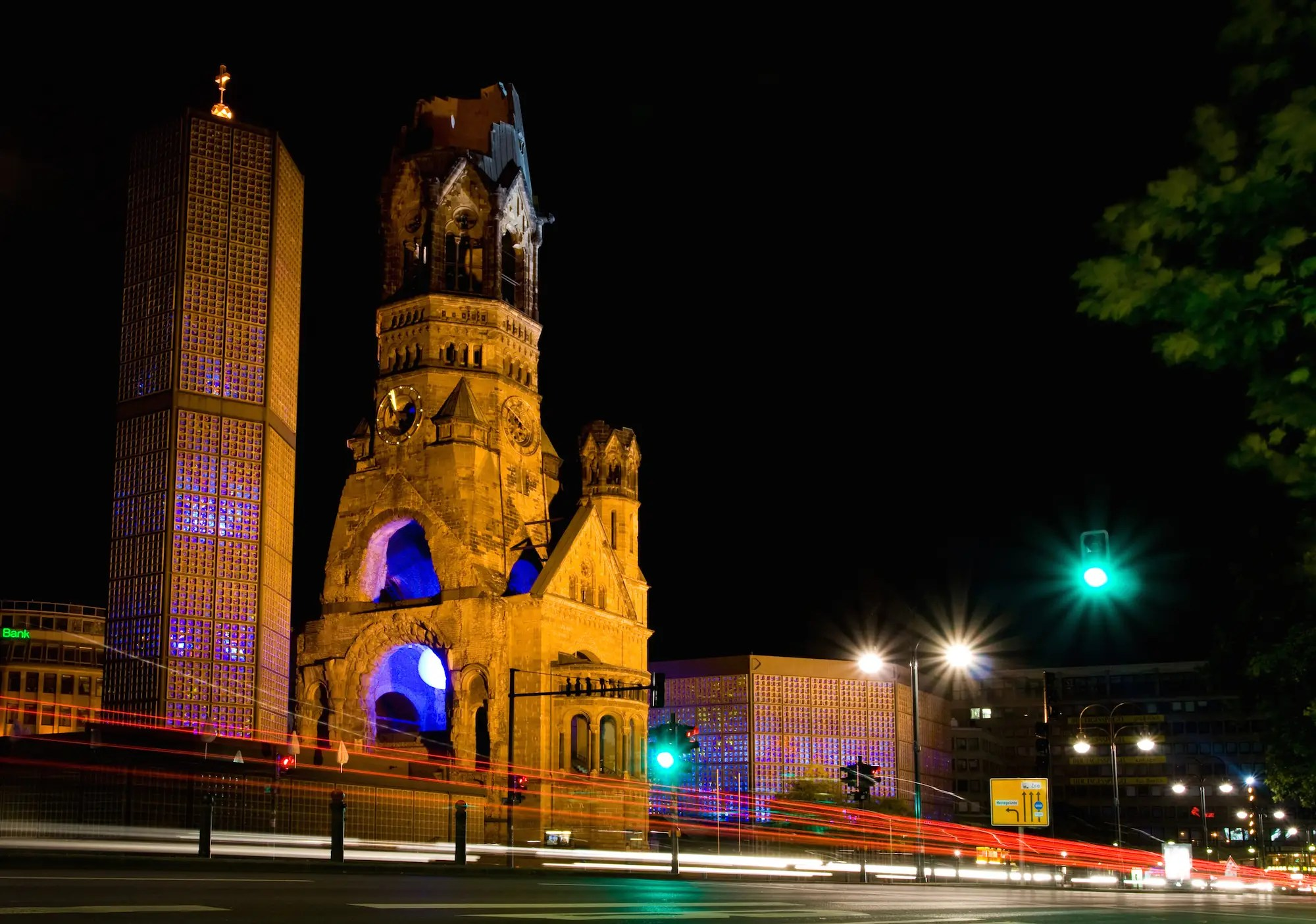 68. The Kaiser Wilhelm Memorial Church in Berlin, Germany, is a perfect mashup of World War II ruins and early 1960s architecture.
