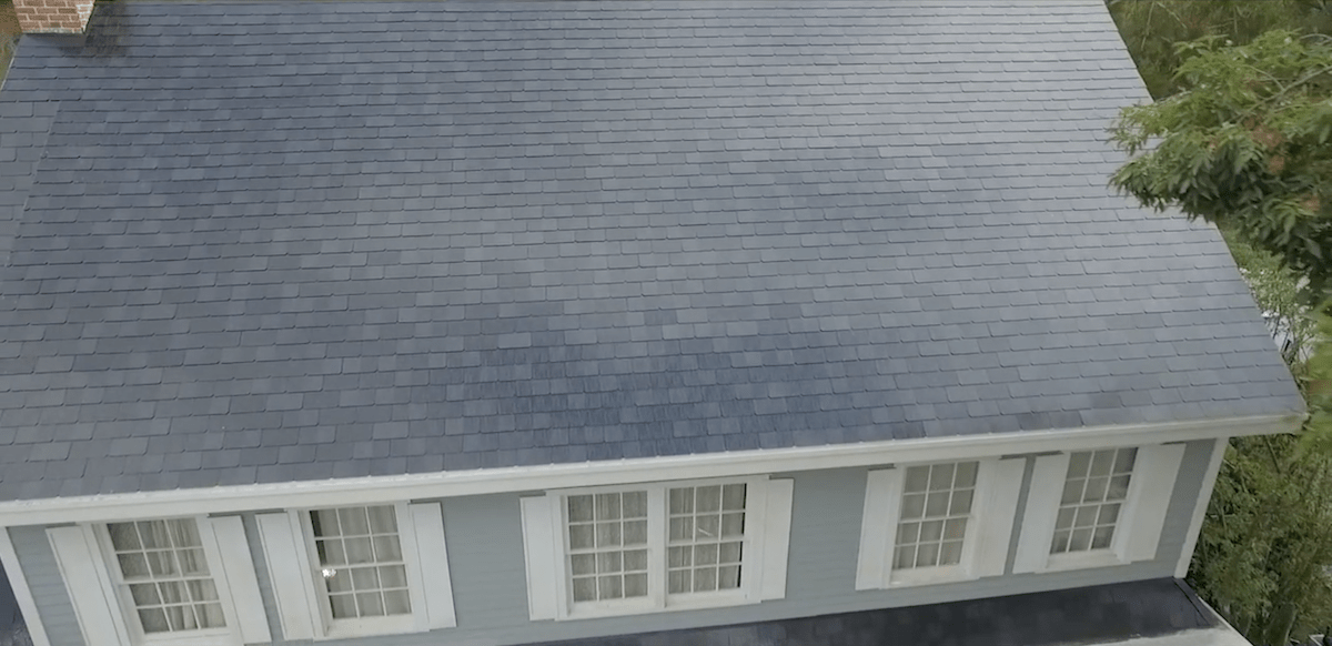 ... And in doing so, you can't really tell the roof has solar cells. That's really the whole crux of Tesla's solar roof vision: to create something that's both aesthetically appealing and efficient.