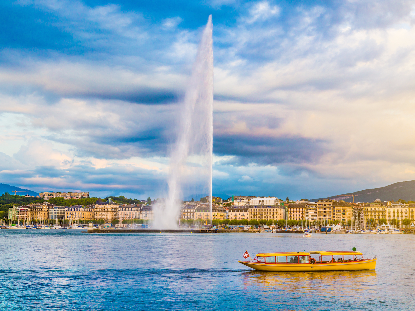 Located in the French part of Switzerland, Geneva has a definite French flair, from the language to the food. The city sits on Lake Geneva and is home to both the United Nations and Red Cross headquarters.