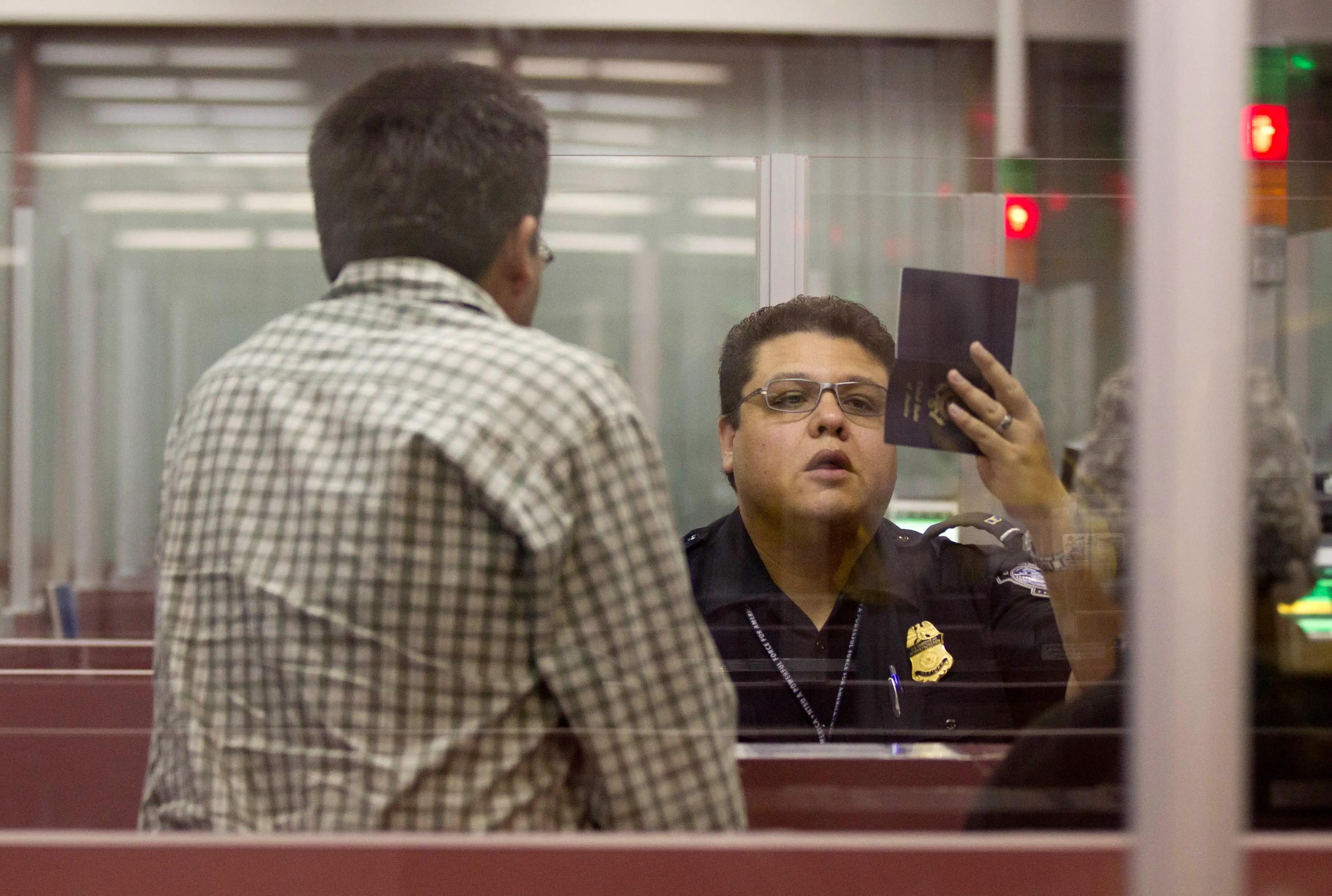 customs passport border airport