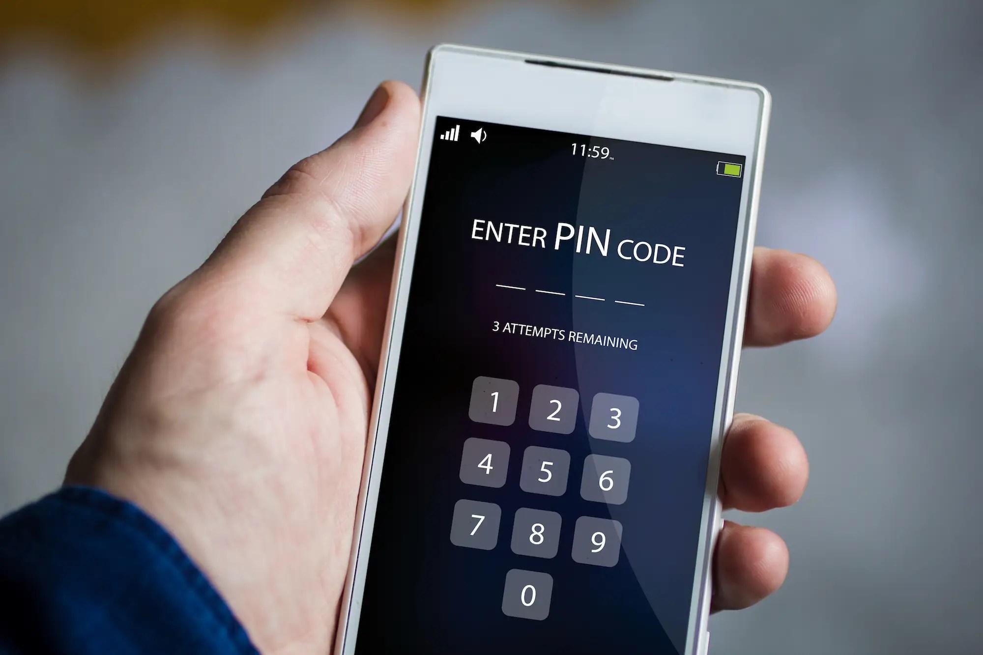 locked phone unlock pin code password