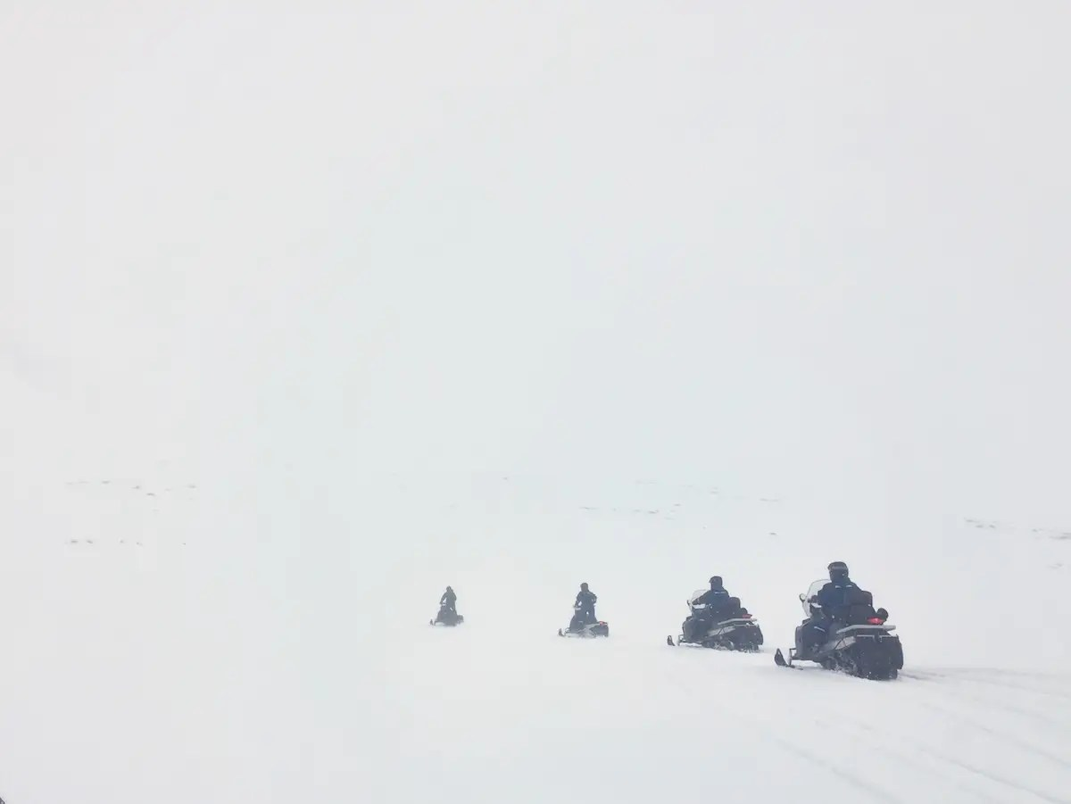 "On no-fly days, when the weather conditions are too dangerous to heli-ski, visitors are provided with a plethora of other activities, including snowmobiling. ""I snowmobiled down the mountain pass road that we drove in on a few days prior,"" Morrow said."