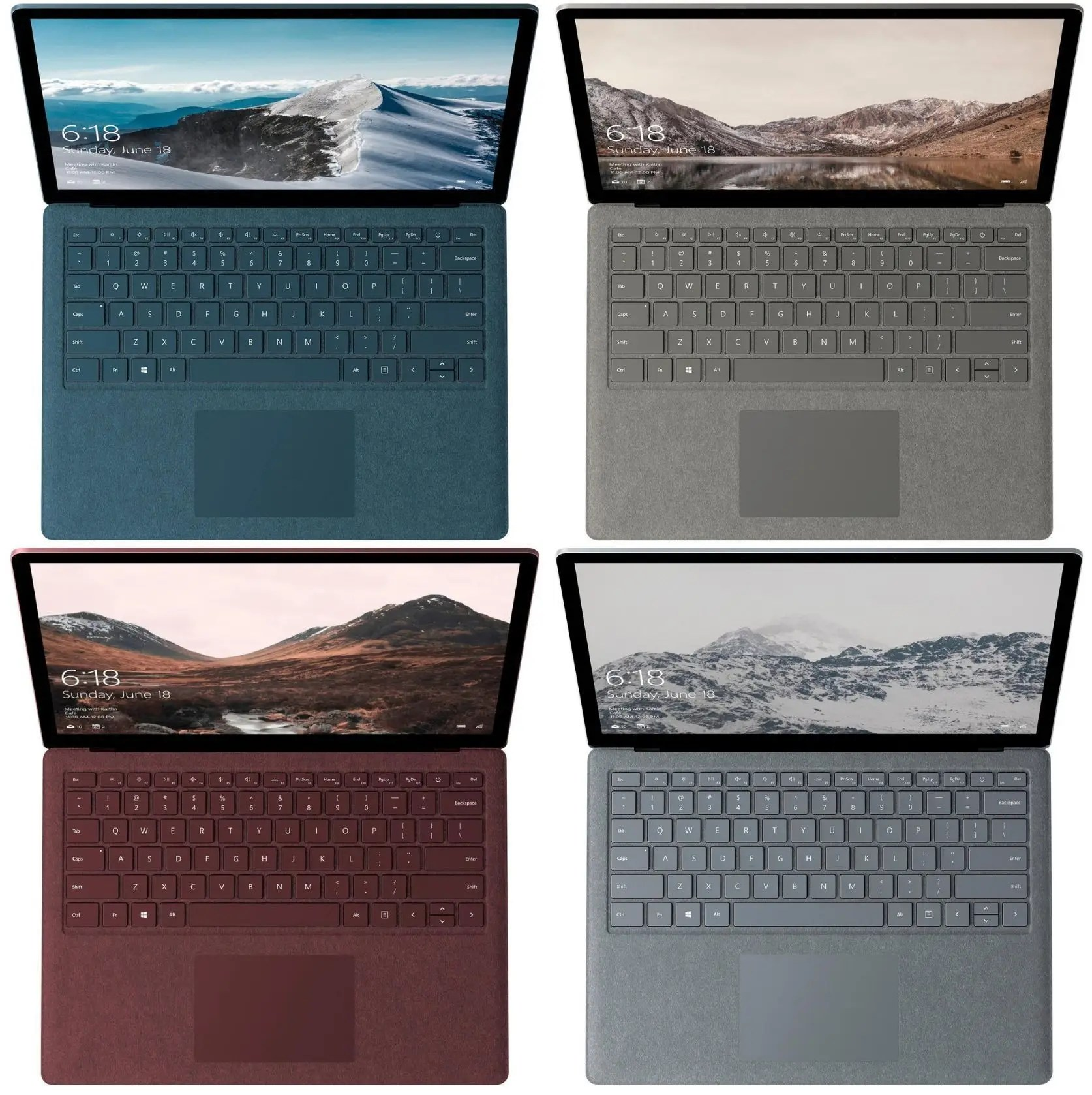 Surface Laptop also comes in a range of fashionable colors.
