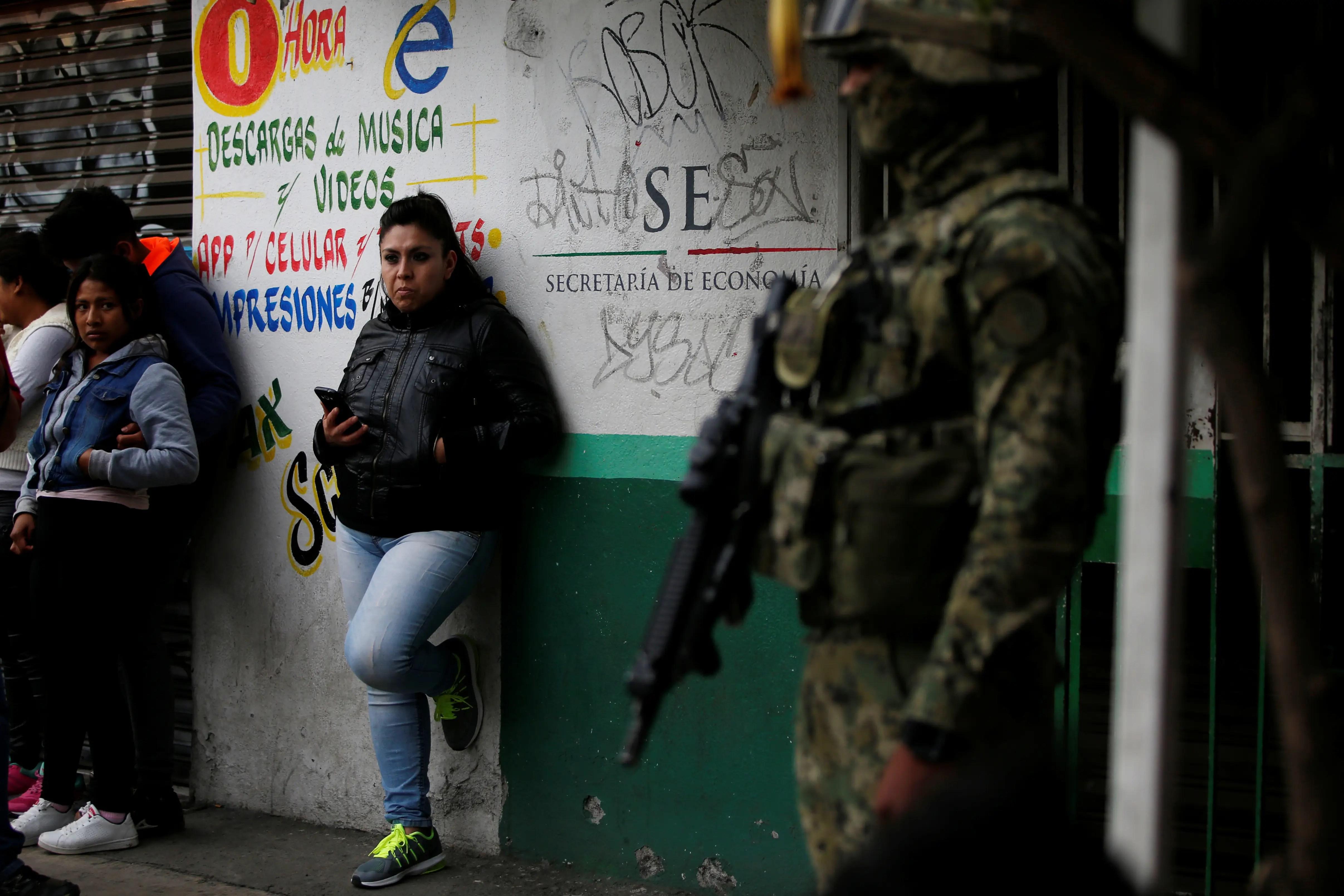 Mexico City marine soldier crime scene