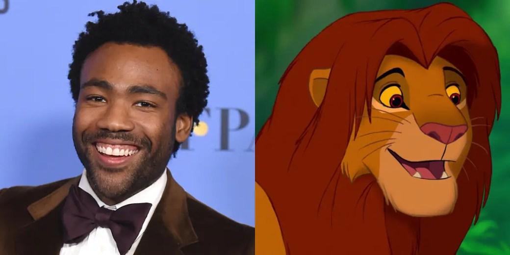 """A estrela de """"Atlanta"""", Donald Glover, interpretará o adulto Simba, que precisa encontrar-se antes de retornar às Terras do Orgulho para tomar seu lugar como rei."""