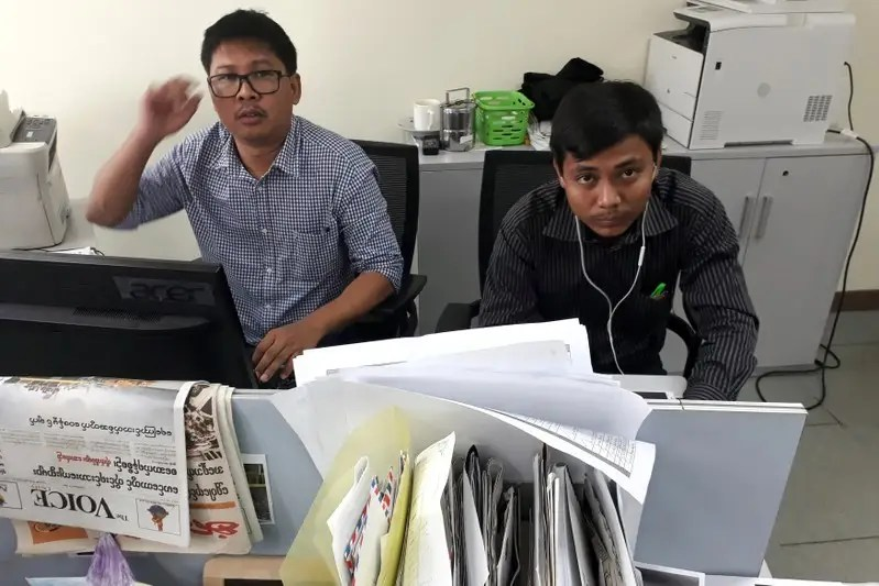 The arrest of Reuters journalists who uncovered mass graves in Myanmar