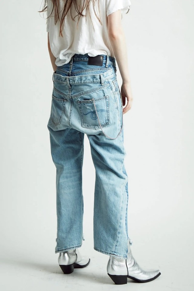 r13 layered jeans 2