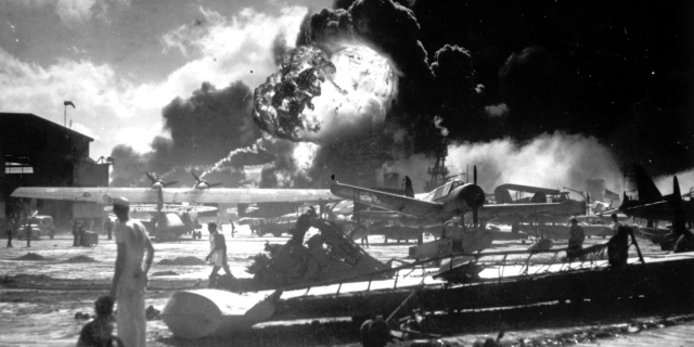 Pearl Harbor attack Shaw explosion sailors