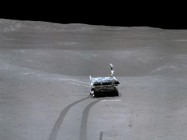 china far dark side moon landing panorama wrap around change 4 lunar mission cnsa original