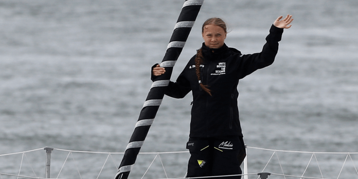 16-year-old Greta Thunberg is sailing 13 days across the Atlantic to speak at a climate conference in New York. Heres why she wont just dial in.