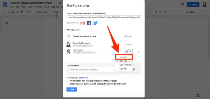4 HOW TO CHANGE OWNER GOOGLE DOCS