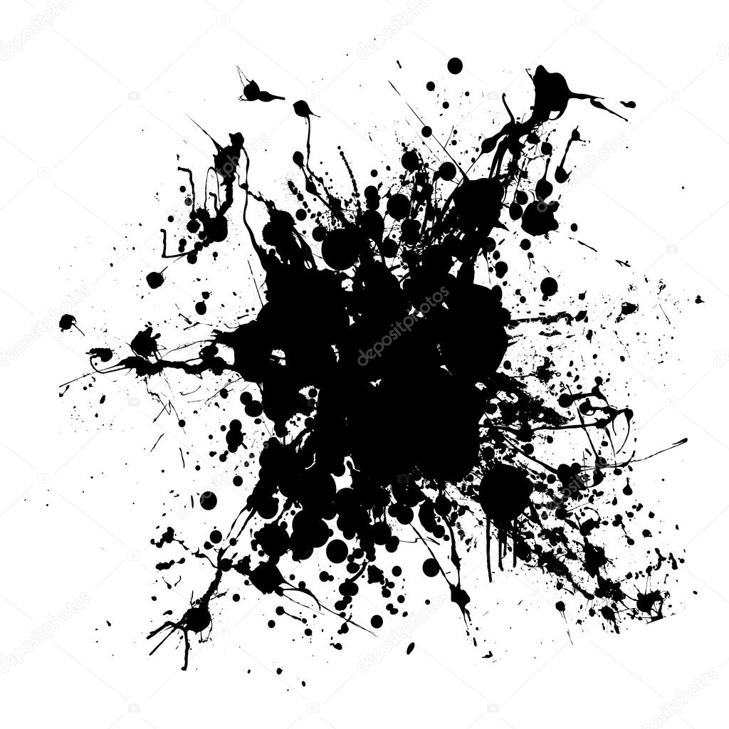Gothic Grunge Ink Splat