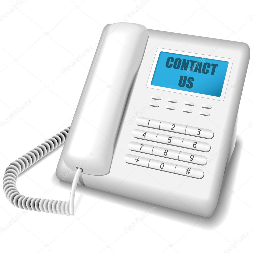 modern white telephone stock vector tuulijumala 2832733