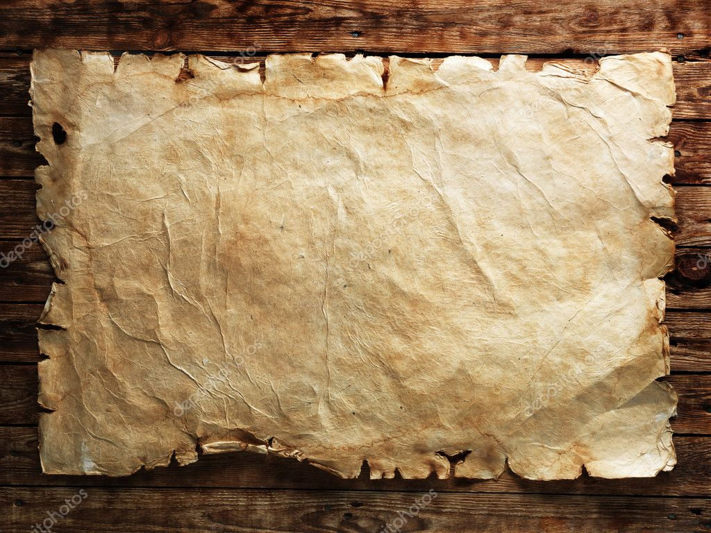 Old Paper On Wood Board Stock Photo Irochka 5130497