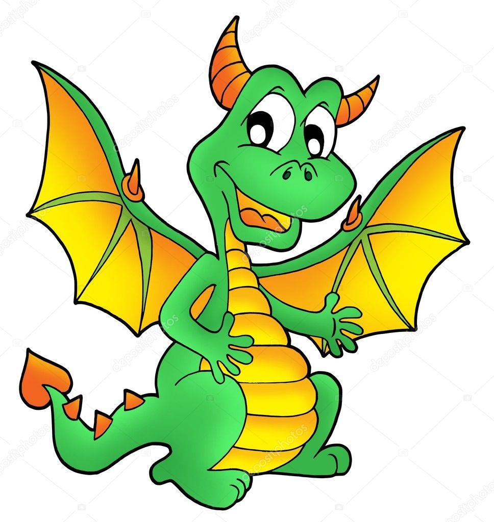 cute green dragon stock photo clairev 2940179