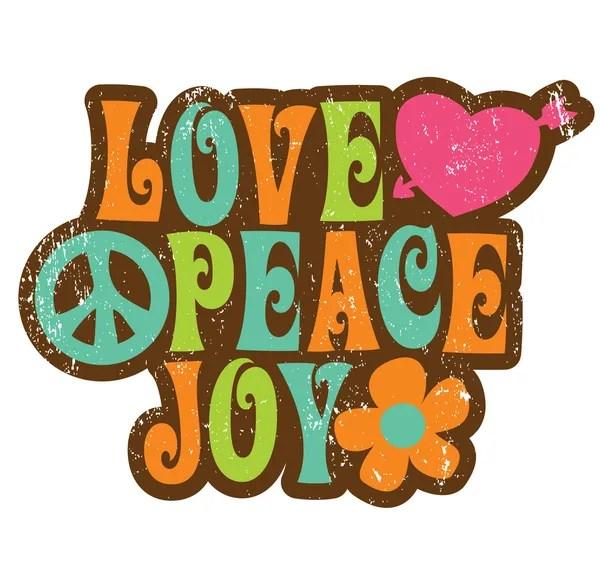 Download 70s Love Peace Joy Design — Stock Vector © wetnose #3117077