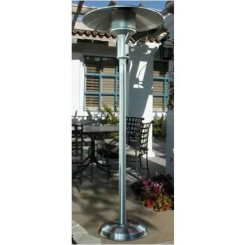 sunglo a242ss portable stainless steel patio heater natural gas greatgrills com