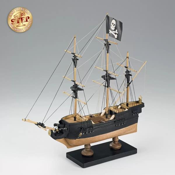 1. lépés Kalózhajó hajómakett építőkészlet Amati