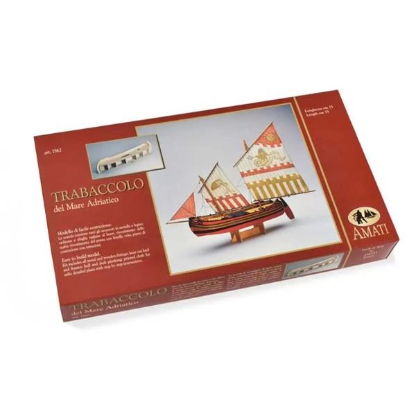 Trabaccolo hajómakett építőkészlet Amati