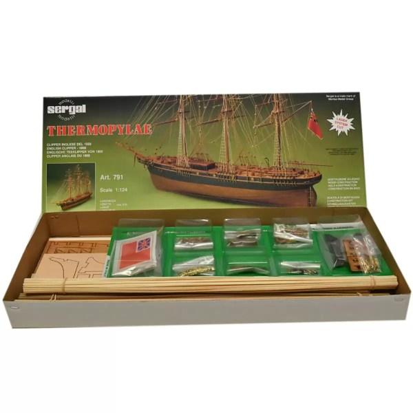 Thermopylae hajómakett építőkészlet Sergal