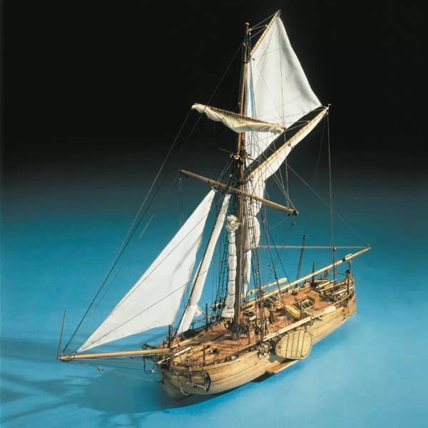 Naval Gunboat hajómakett építőkészlet Mantua