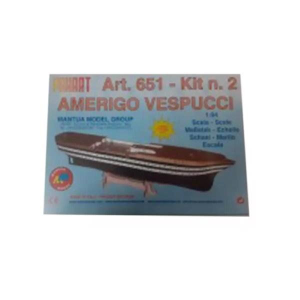 Amerigo Vespucci 2.rész építőkészlet Panart