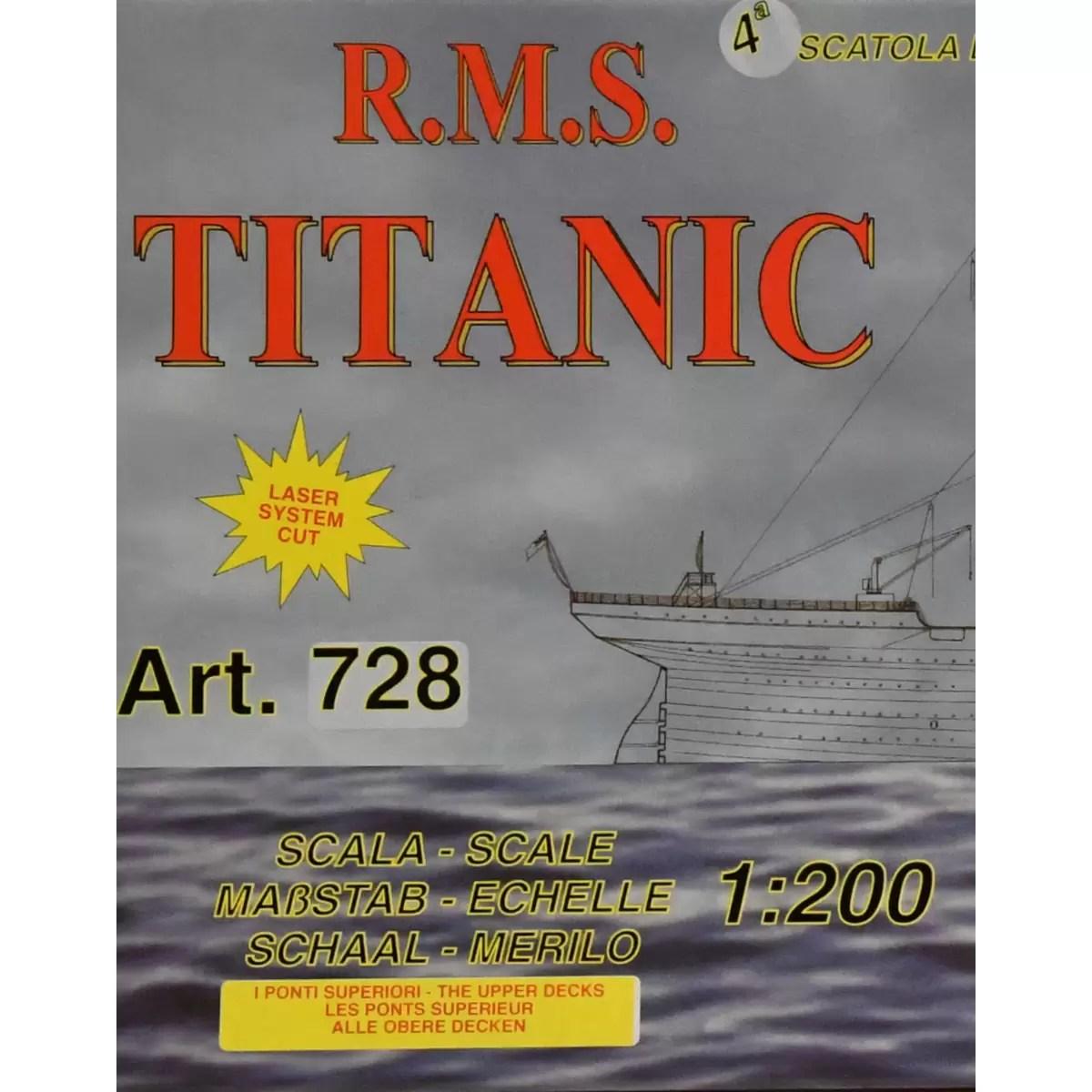 Titanic Kit No.4 hajómakett építőkészlet Mantua