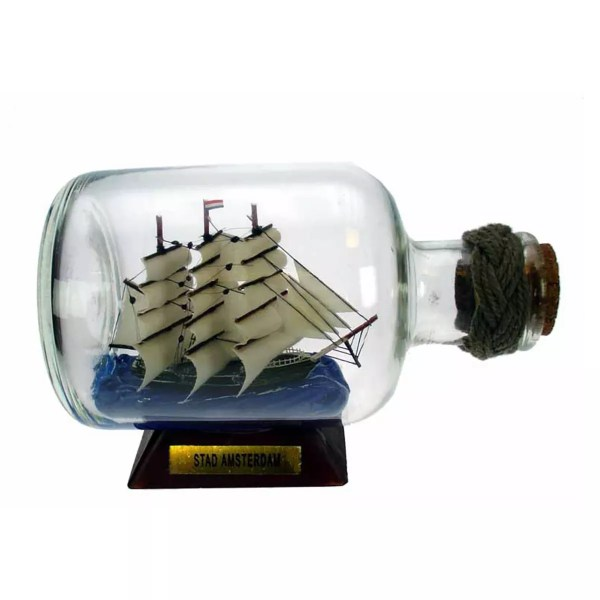 Hajó üvegben 9,5 cm Hajómakett üvegben
