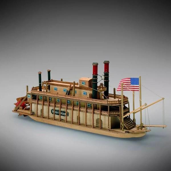 Mississippi hajómakett építőkészlet Kezdő és gyerek kitt