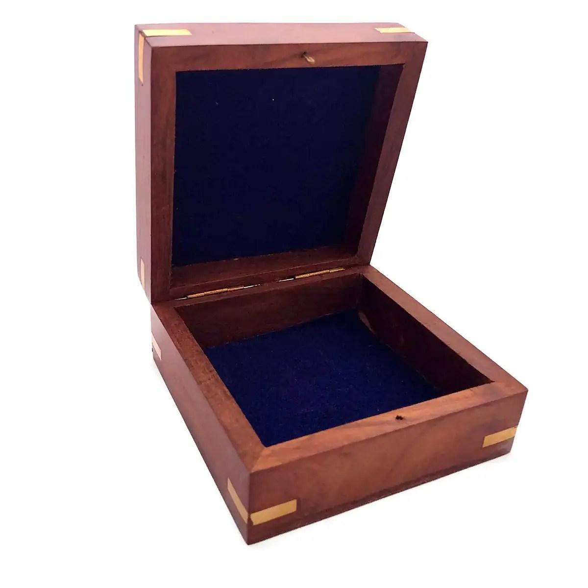 Fa tárolódoboz 11,5 cm Kincsesláda, tároló