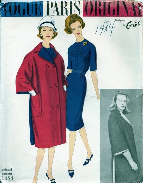 Vogue 1484 by Grès (1960)