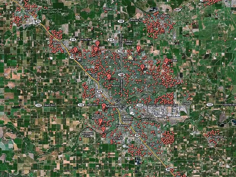 Modesto, Calif. -- 1 in 14 homes in foreclosure