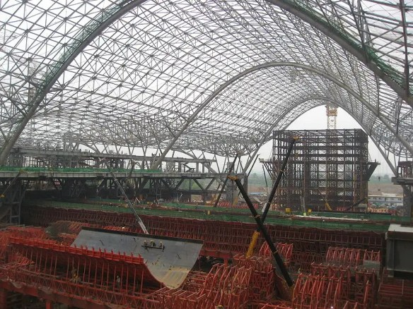 $2.12 BILLION: The Wuhan Railway Station serves the world's fastest trains at 217 mph