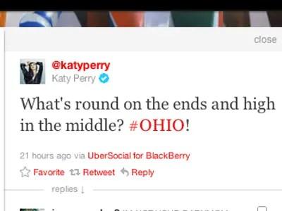 Katy Perry, pop star: Blackberry