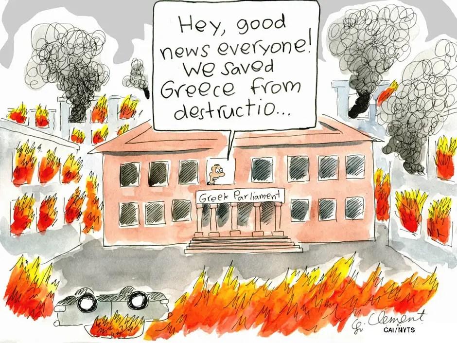 Greek austerity, cartoon
