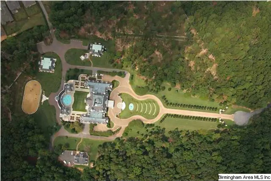 MONTAGEL WAY MANSION, BIRMINGHAM, ALA.: 50,000 square feet. The grounds of the mansion are shaped like a guitar, and it's listed at 13.9 million.
