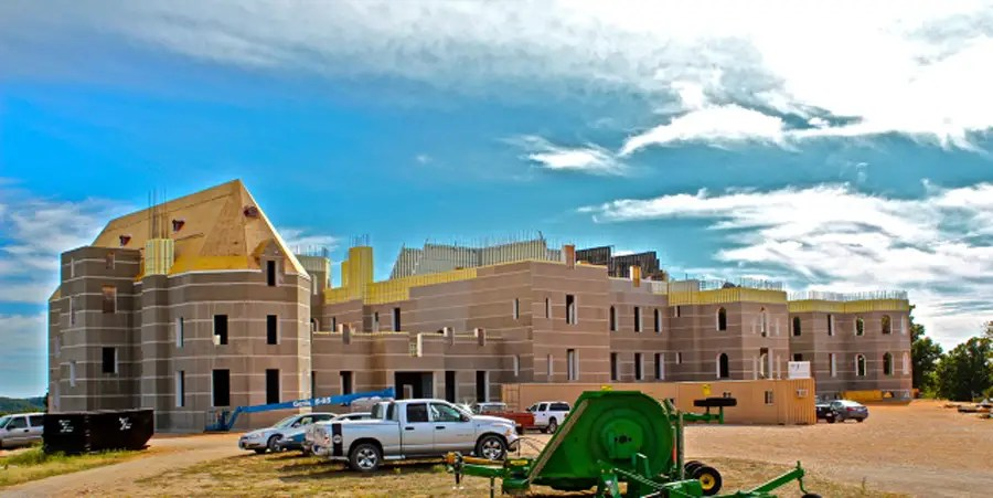 PENSMORE, CHRISTIAN COUNTY, MO.: 72,000 square feet. Business exec Steve Huff is building a 13-bedroom energy efficient house in Missouri that's strong enough to withstand a tornado. Construction is scheduled to be completed in 2013.