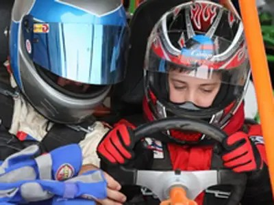At Motorsport Camp, kids get behind the wheel at least twice a day.